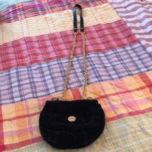 Juicy Velvet crossbody bag.